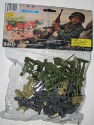 BMC -- 40024 D Day Plastic Figures Bagged