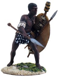 BR20092 -- Zulu uMcijo Regiment Stabbing with Assegai No.1