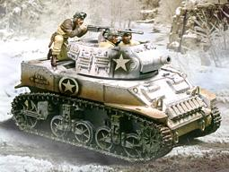 CS00382 -- M8 Stuart 75mm Howitzer - Winter