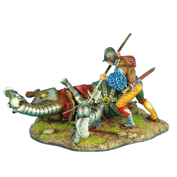 857e49d3e3165 REN037 -- German Landsknecht Finishing off Downed French Knight