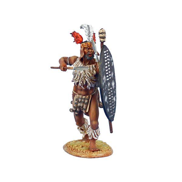 ZUL017 uMbonambi Zulu Warrior with Spear and Shield