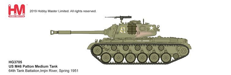 HG3705 US M46 Patton Medium Tank 64th Tank Battalion 1951 Hobby Master 1:72