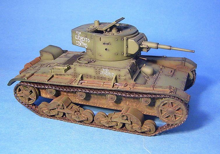 Rep 001 t 26 model 1935 republican light tank