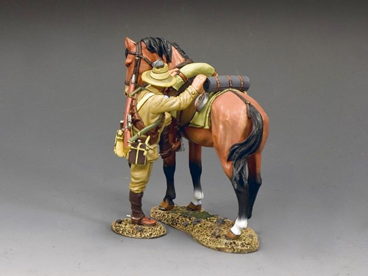 Naked Army Lighthorse Trooper 1915 Cold-Cast Bronze Figurine