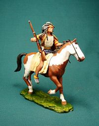 SLGM-017 -- Mounted Sioux Warrior with Rifle