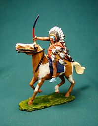 SLGM-018 -- Mounted Lakota Sioux with Captured Sword
