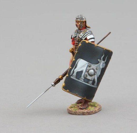 Red Shield peint Metal Figure Thomas Gunn ROM085A Légionnaire avec Pick Axe