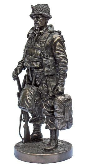 Khaki-Army USA Marine Honor Guard Bronze Cold Cast Resin Statue,7-Inch KA206